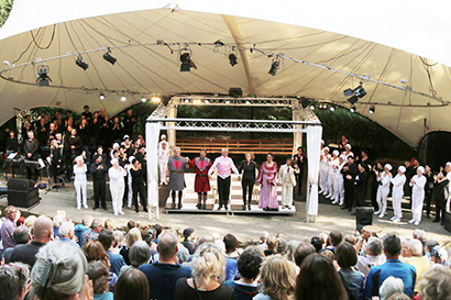 Outdoor theater voorstelling